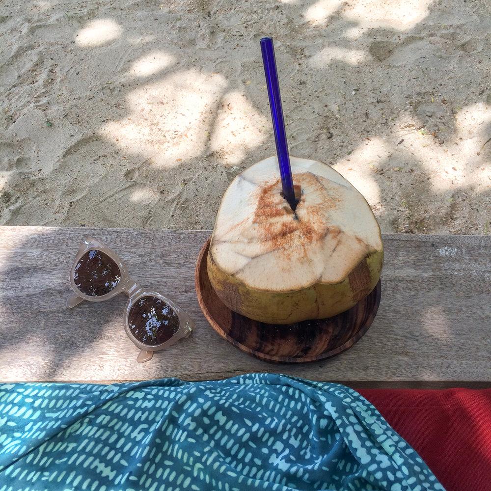 Celine sunglasses and sarong from Gili Asahan Eco Lodge
