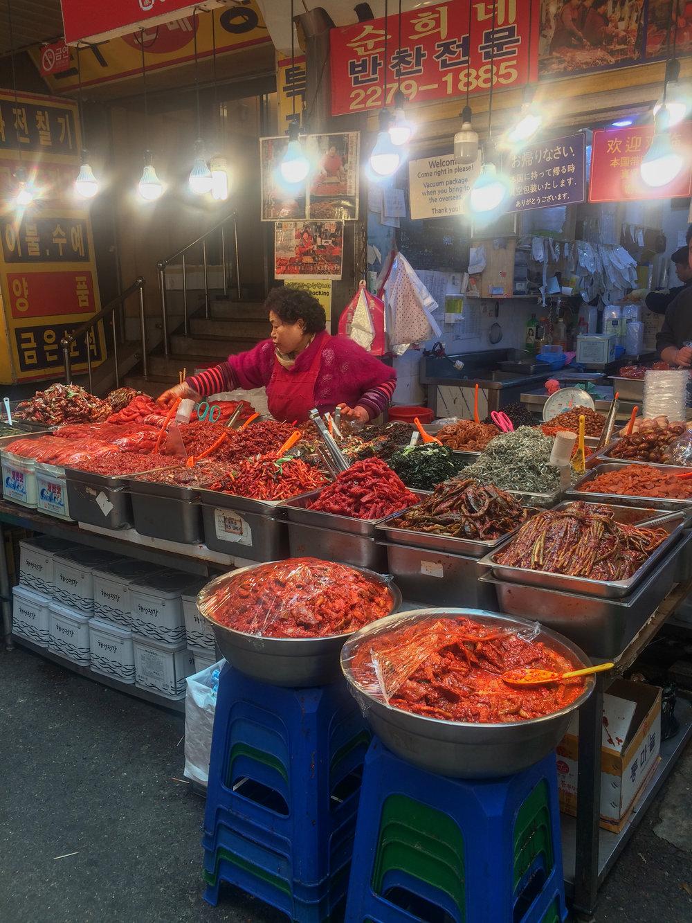 Kimchi vendor