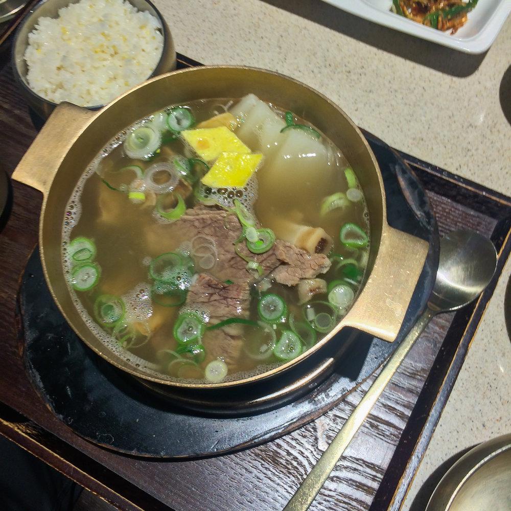 Galbi-tang (갈비탕), short rib soup