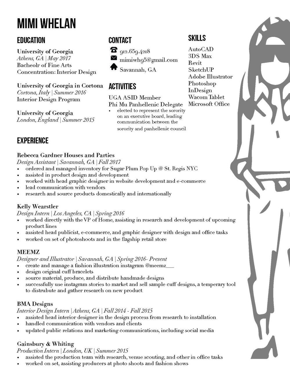 Resume — Mimi Whelan
