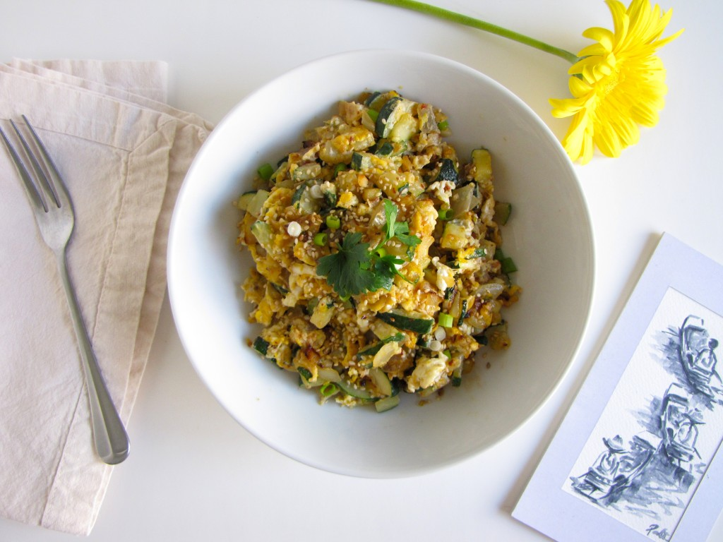 spicy scrambled eggs, gluten-free, thai style eggs, thai