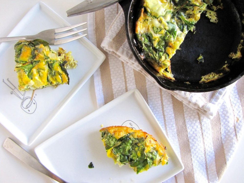 Spinach Tarragon Frittata, gluten-free, begetarian, breakfast, gluten-free breakfast, italian breakfast, healthy, recipe, healthy recipe