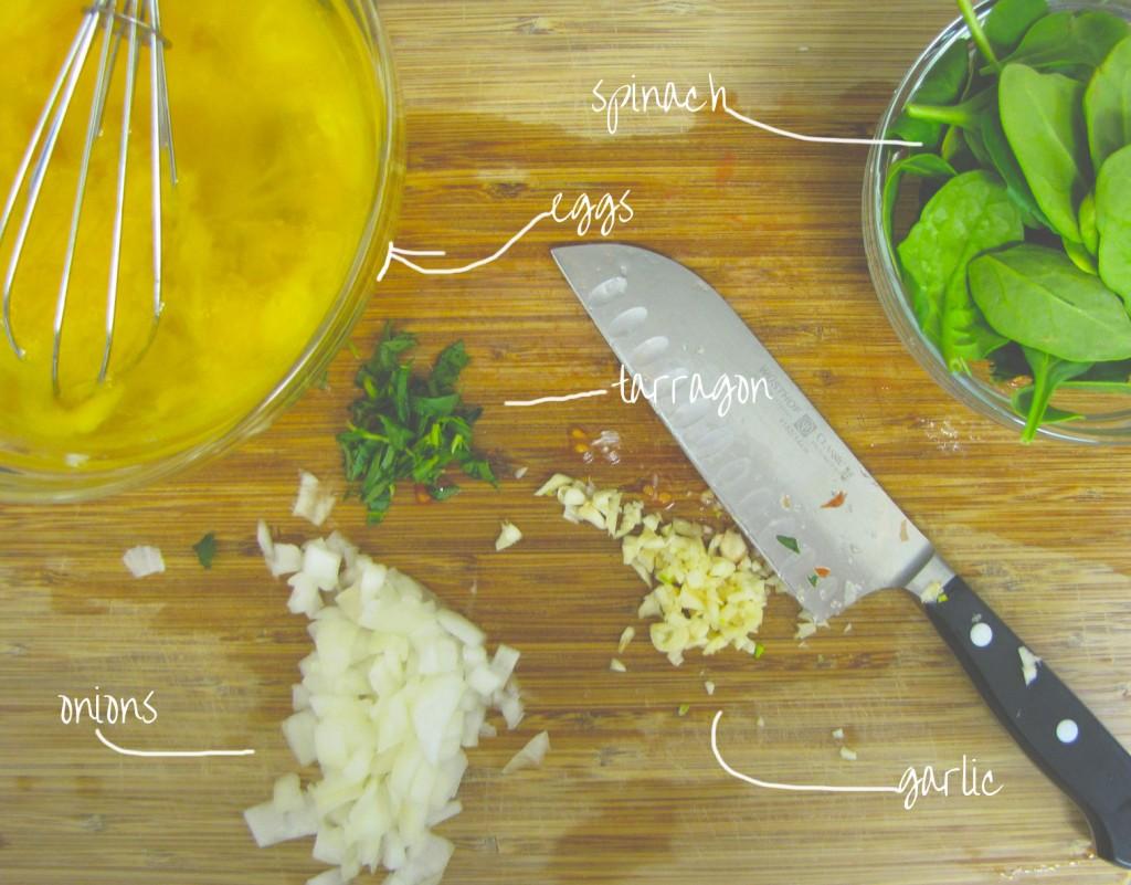 Spinach Tarragon Frittata, gluten-free, vegetarian, breakfast, gluten-free breakfast, italian breakfast, healthy, recipe, healthy recipe