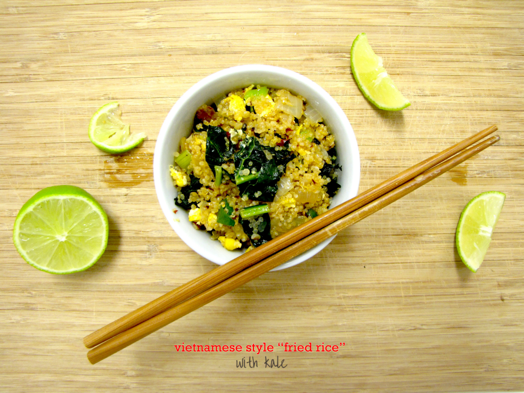 Vietnamese Style fried rice, fried rice, gluten-free, quinoa