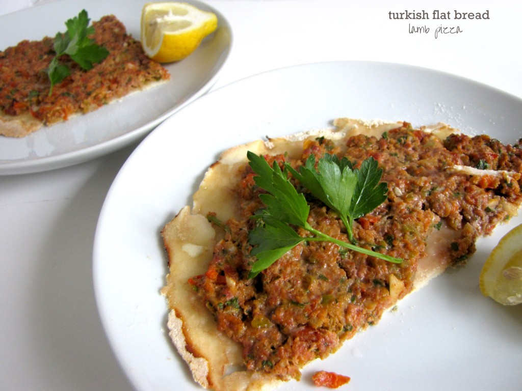 Turkish Flat Bread Lamb Pizza, Lahmacun, Turkish Cuisine, lamb dishes, flat bread, entrees, dinner ideas