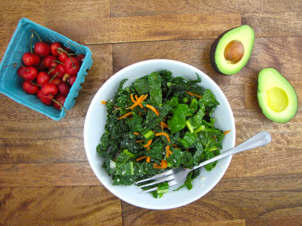 kale and carrot salad