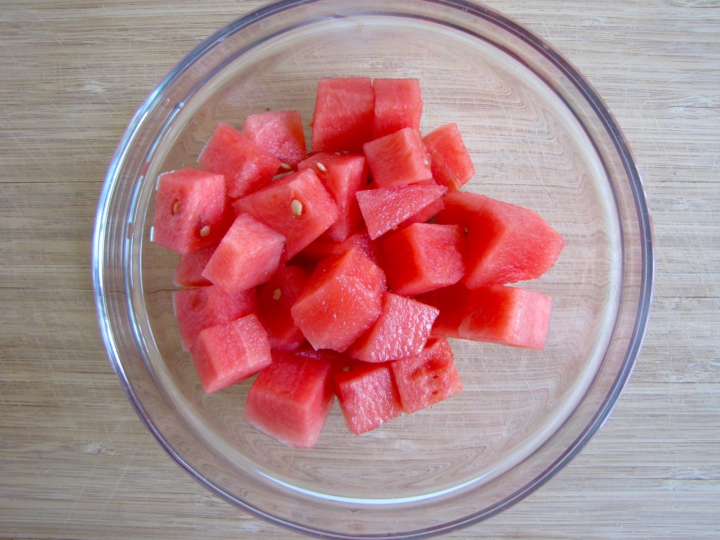 Watermelon Basil Salad with Balsamic