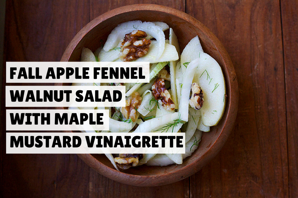 fall apple fennel walnut salad