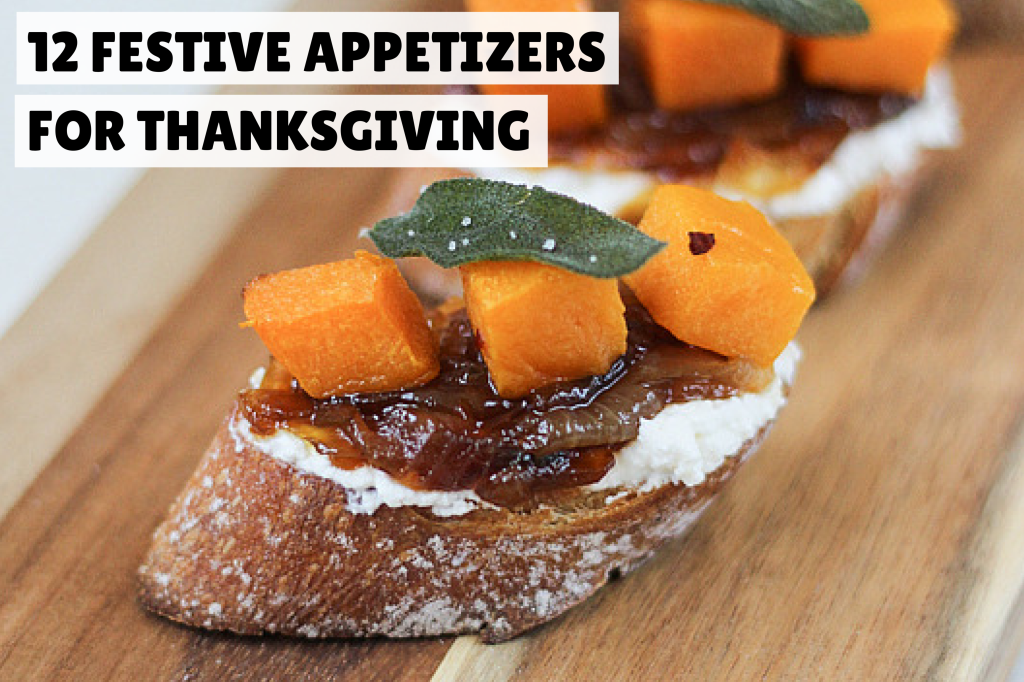 12 festive appetizers for thanksgiving