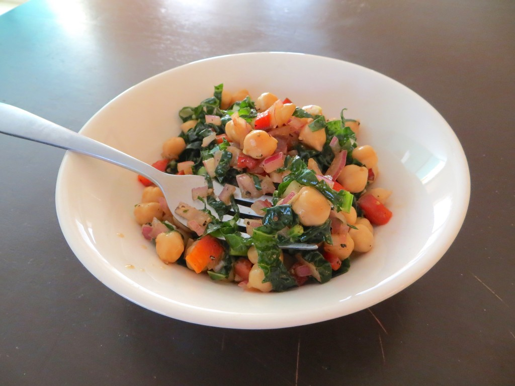 Garbanzo and Kale Salad 10.19.53