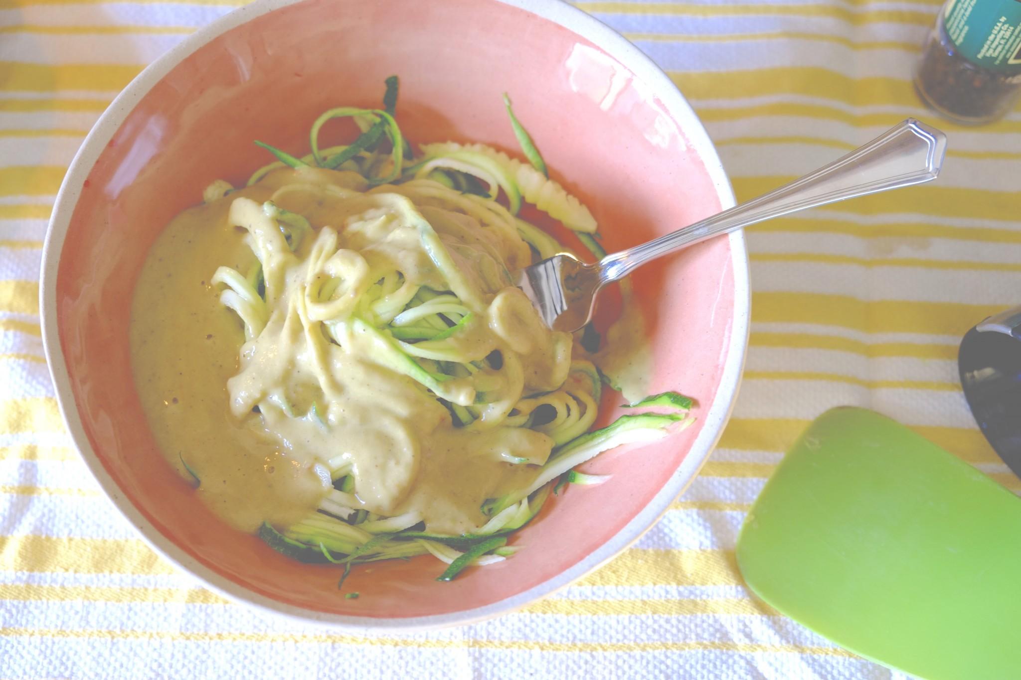 With A Creamy Alfredo Sauce (Vegan/Gluten Free)