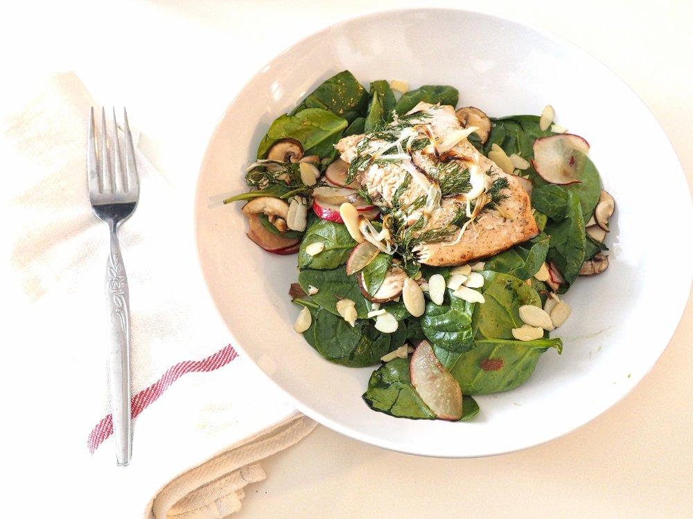 Baked Salmon Salad LetsRegale.com0