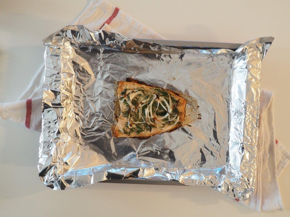 Baked Salmon Salad LetsRegale.com1