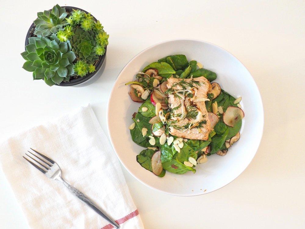 Baked Salmon Salad LetsRegale.com6