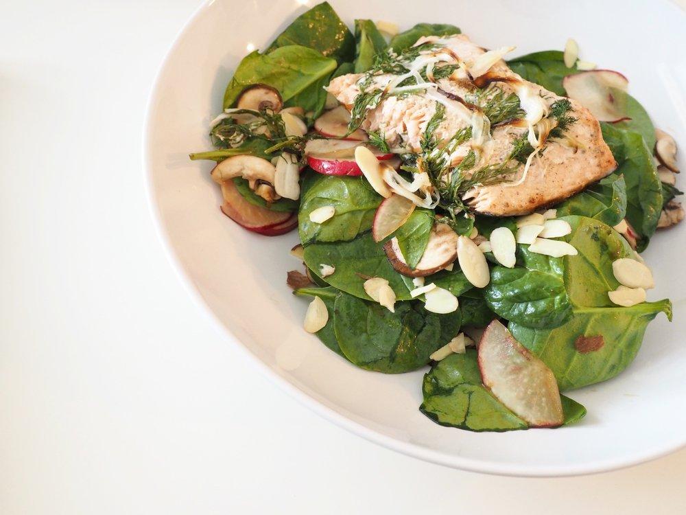 Baked Salmon Salad LetsRegale.com7