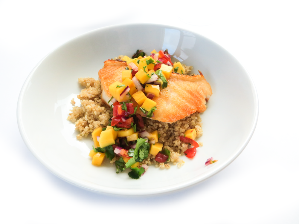 Sea Bass Quinoa Mango Salsa_10