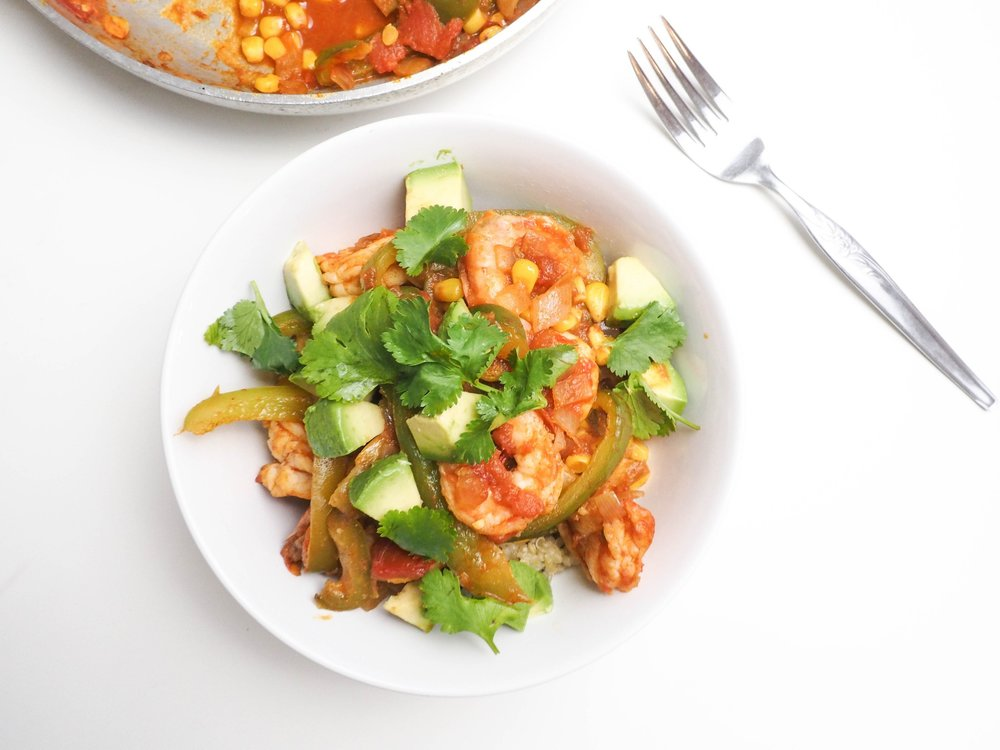Southwest Shrimp Quinoa Power Bowl 1