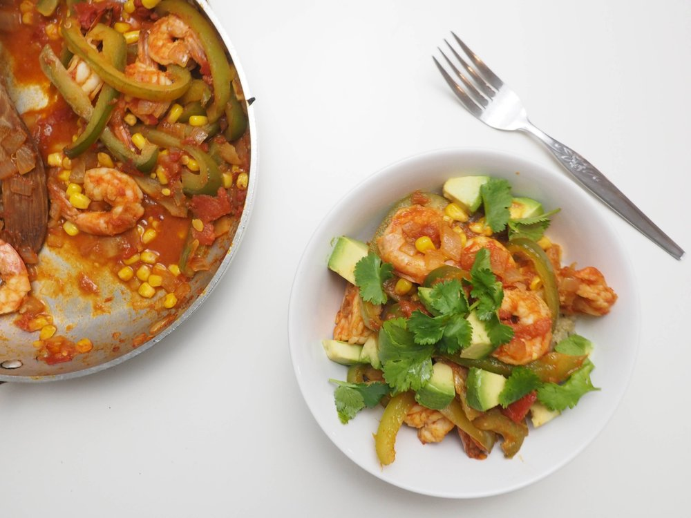 Southwest Shrimp Quinoa Power Bowl 2