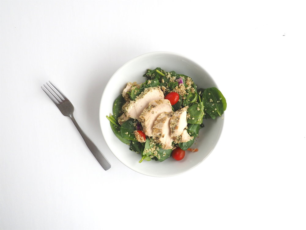 Lemon Roasted Chicken Spinach Qunioa 4