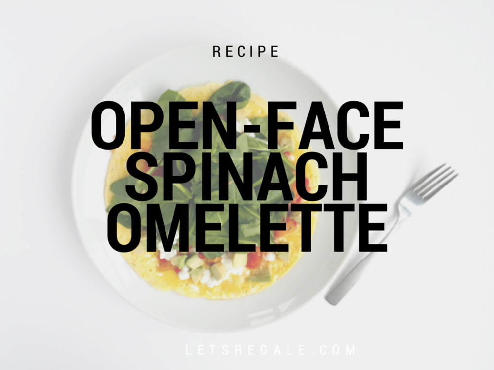 Open-Face Spinach Omelette letsregale.com