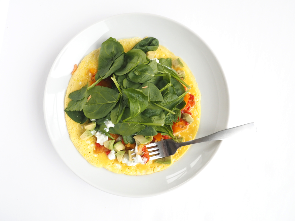 Open-Faced Spinach Omelete_11