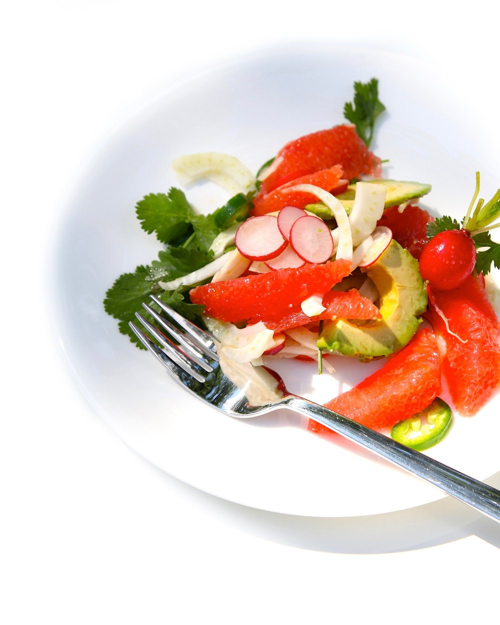 Summer fresh radish, ruby red grapefruit and fennel salad (1)