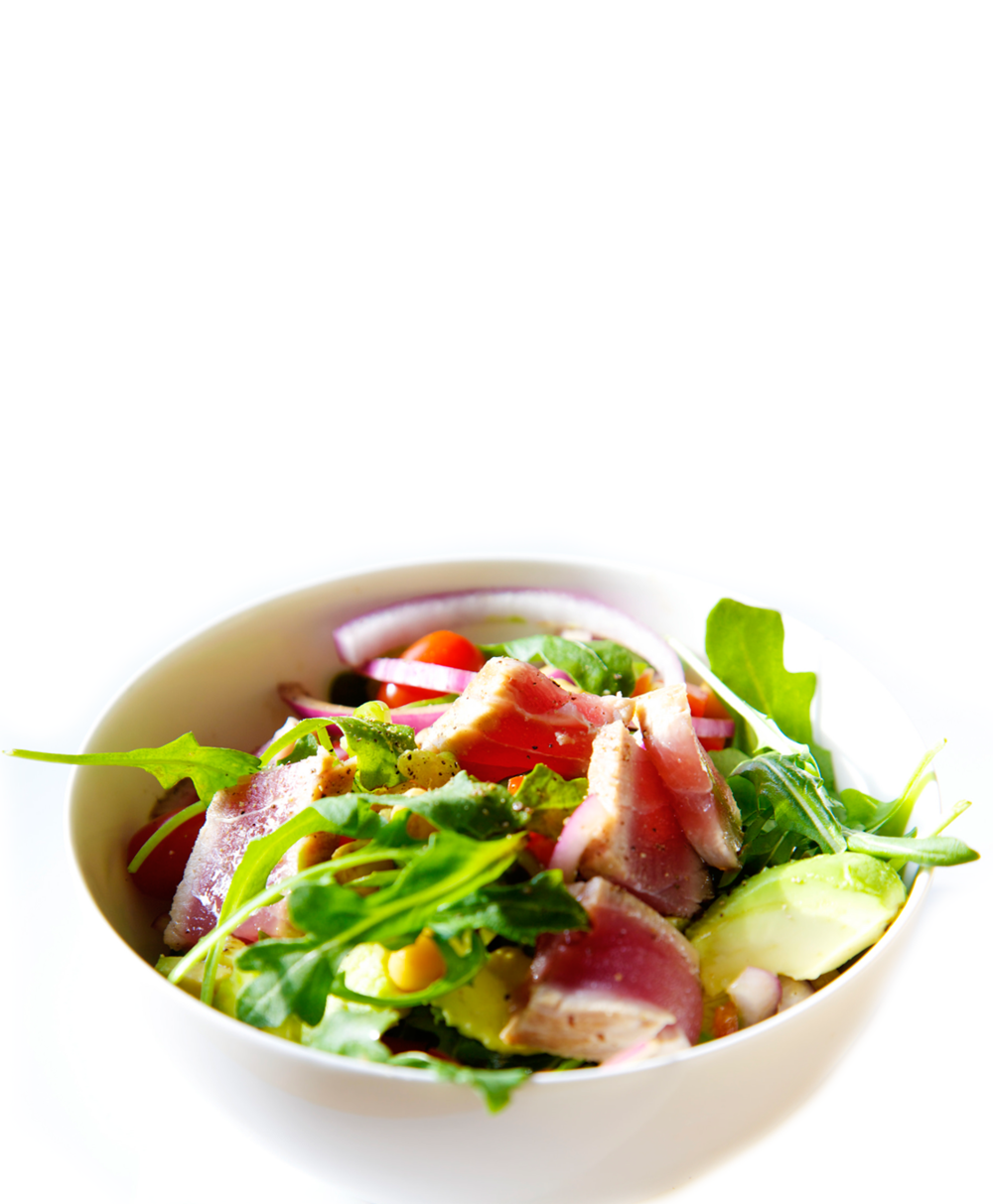 Garden Fresh Salad with Seared Tuna letsregale.com