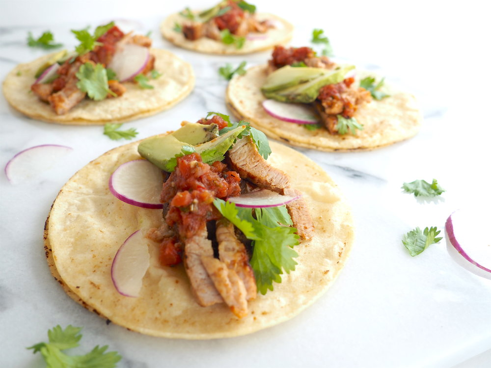 30 Minute Dinner Street Tacos with Smithfield® Marinated Fresh Pork Tenderloin