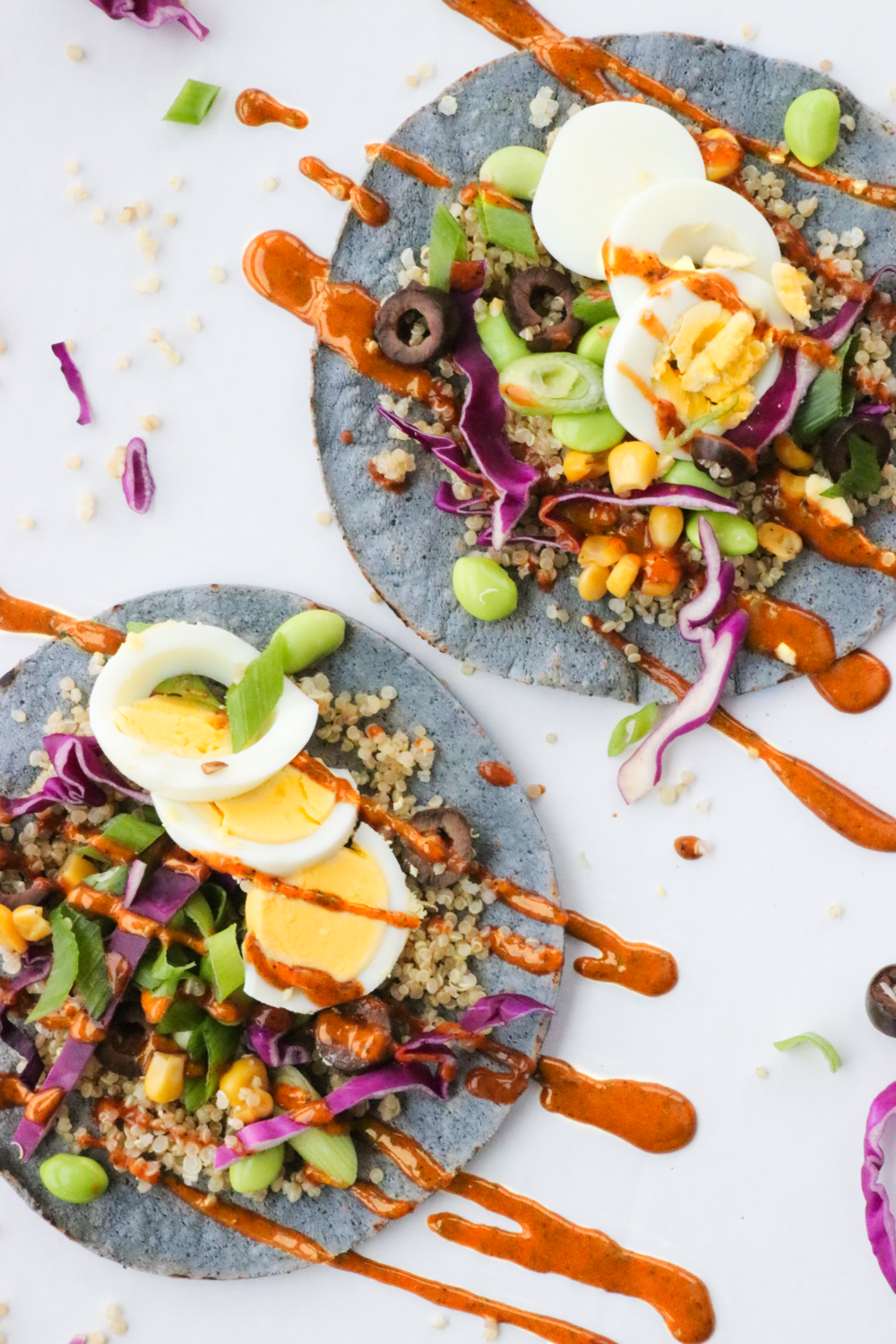 Not Your Usual Taco Tuesday: Quinoa Veggie Blue Corn Tortilla Tacos