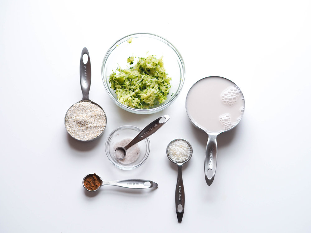 Zoats: Zucchini + Oats #tiumeals #eatclean