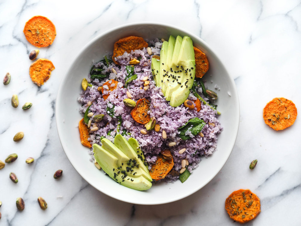 Purple Cauli-Rice Balanced Bowl