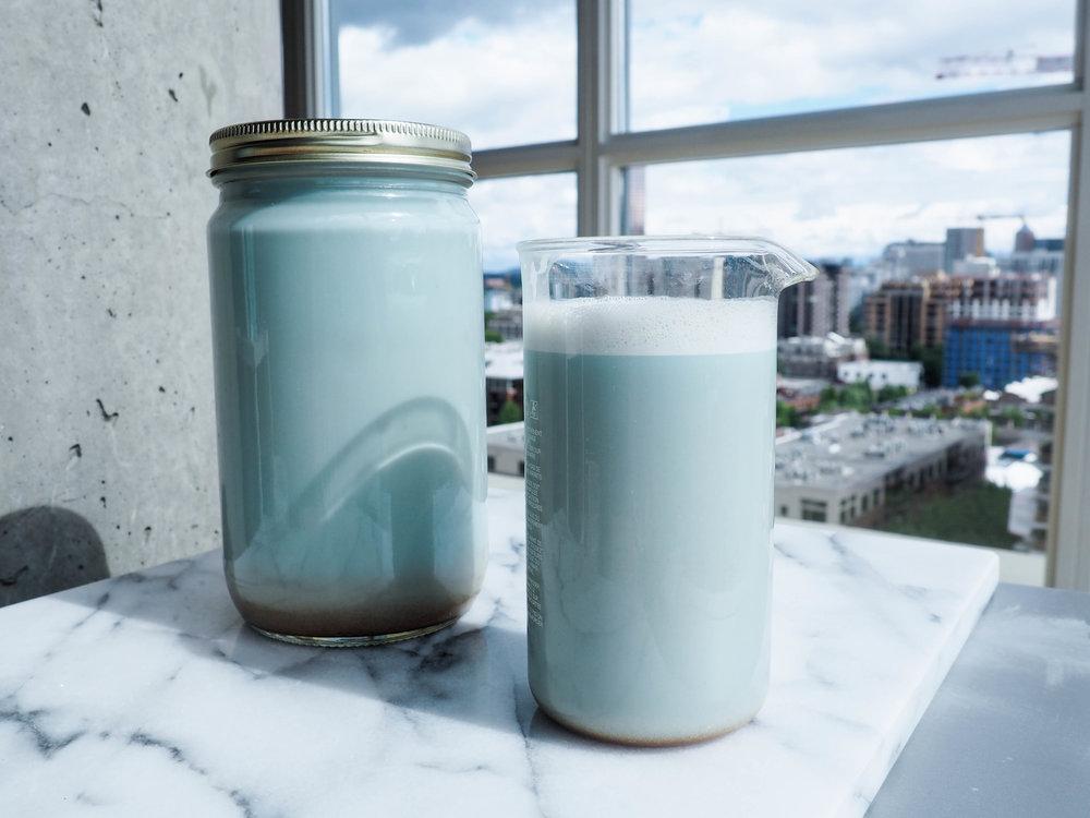blue majik almond milk