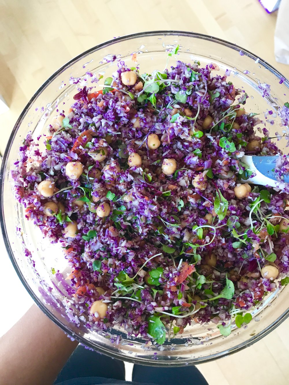Purple Cauliflower Mint Salad
