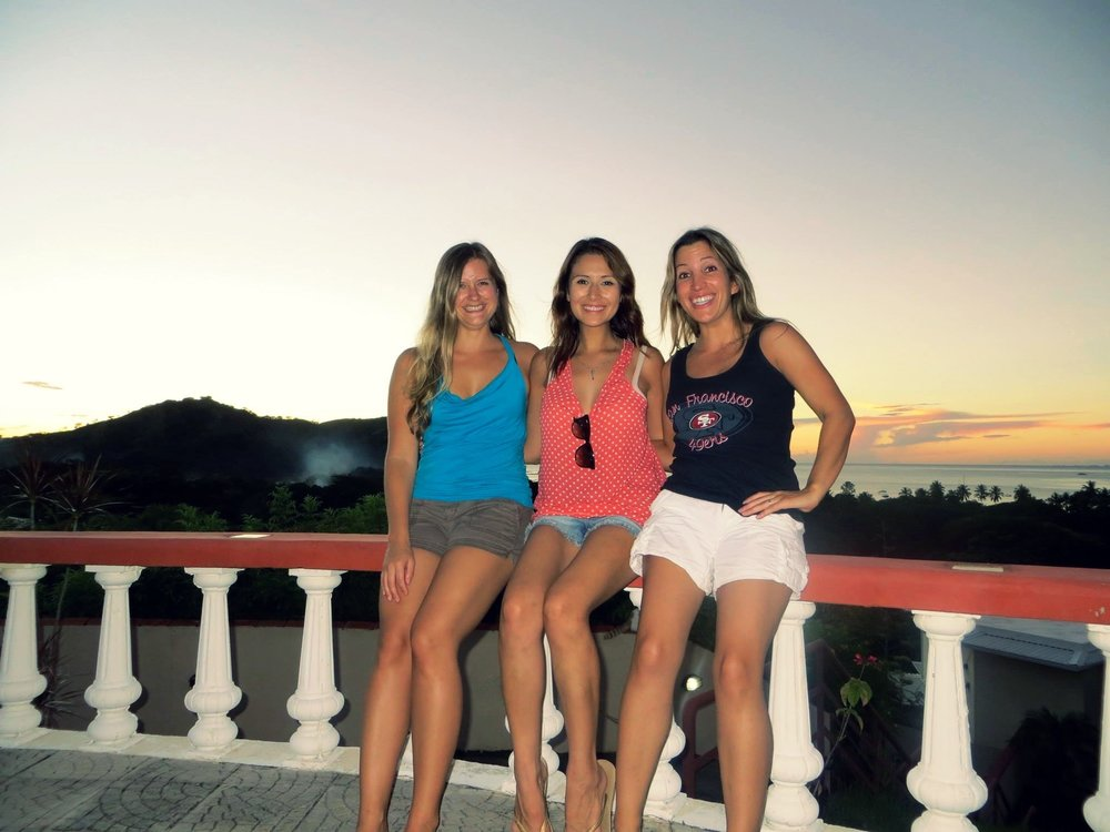 Me (middle) in Costa Rica with friends in 2013 at my lowest weight