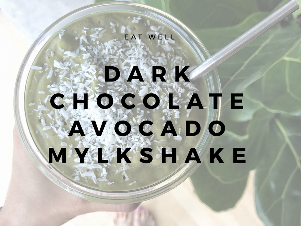 Dark Chocolate Avocado Mylkshake