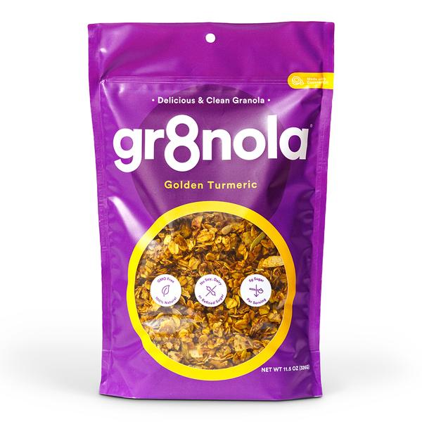 gr8nola Golden Turmeric Granola   Promo code 'valeriefidan' at checkout for 20% your order!