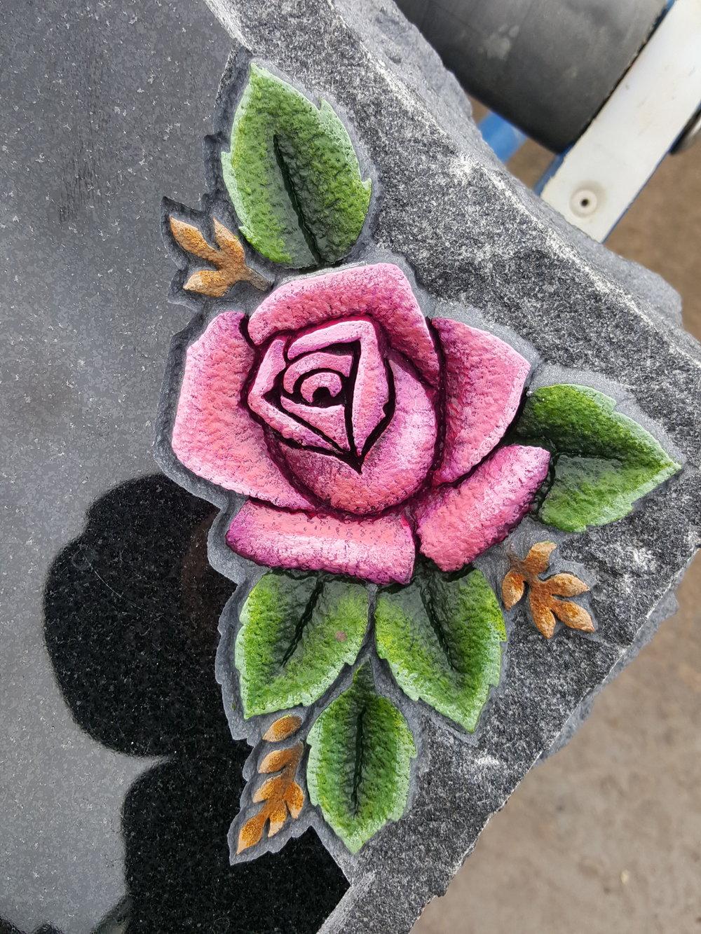 Deep carved rose