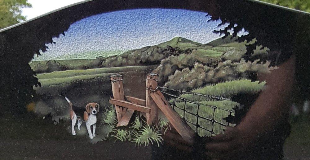 Hound and hedge