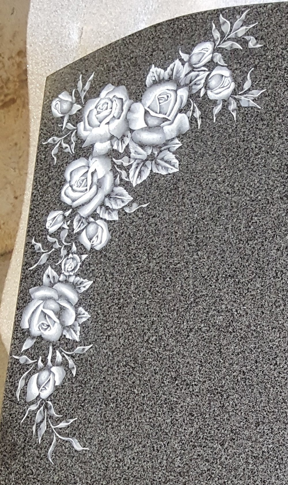 Monochrome floral design