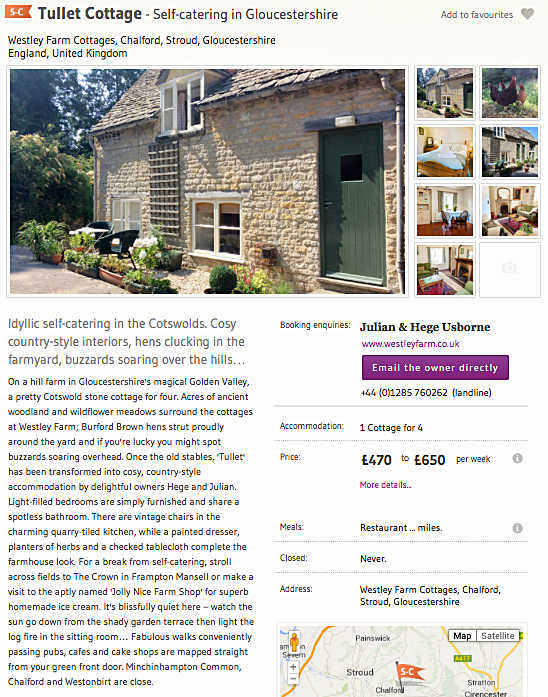 One of many UK property descriptions written for Sawdays.
