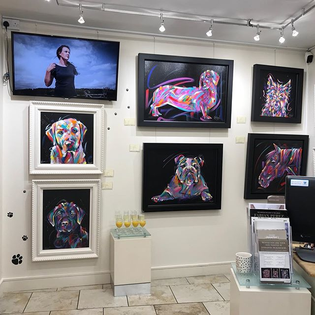 @trent_galleries looking amazing at my event with them recently 😍 . . . . . . #trentgalleries #artgallery #galleryart #gallerywall #gallerywalls #artgallerydisplay #colourfulart #colourfulartwork #colourfulartworks #multicolour #multicoloured