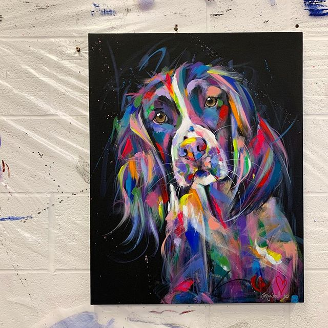 Have been working on this painting this week...no better way to start the week than by painting a Springer 😍🐶 X . . . . . . . #dogpainting #dogpaintings #dogportrait #dogportraits #petportrait #petportraits #petportraitartist #springerspaniel #springerspanielsofinstagram #springers #springersofinstagram #englishspringerspaniel #englishspringer #englishspringersofinstagram #springerspaniellovers #springerspanielworld #colorfulart #colorfulartwork #colourfulart #colourfulartwork #colorfulpainting #colorfulpaintings #colourfull