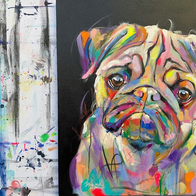 'Party With Pug' 😍 hope you love it...my work surface is starting to look more like my art 🤣 xx . . . . . . #pug #pugs #pugsoftheday #pugsofinsta #pugsofig #pugpainting #pugart #pugpics #pugsofinstagram #puggy #puglovers #dogpainting #dogpaintings #dogart #petportrait #petportraits #puglover #pugscorner #colourfulart #colourfulartwork #colorfulart #colorfulartwork #colorfulpainting #colorfulpaintings #loveanimals #animalslove #animallover