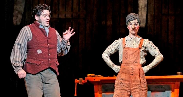 As Geppetto in The Adventures of Pinocchio, Minnesota Opera 2009
