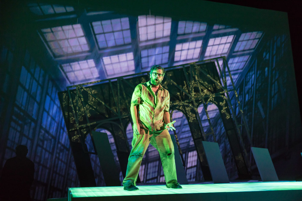 As The Fugitive in The Invention of Morel, Chicago Opera Theater 2017
