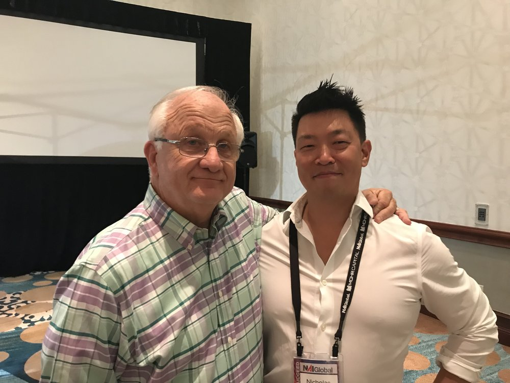 CEO Tim Foutz and SVP Nicholas Chang at the Convention
