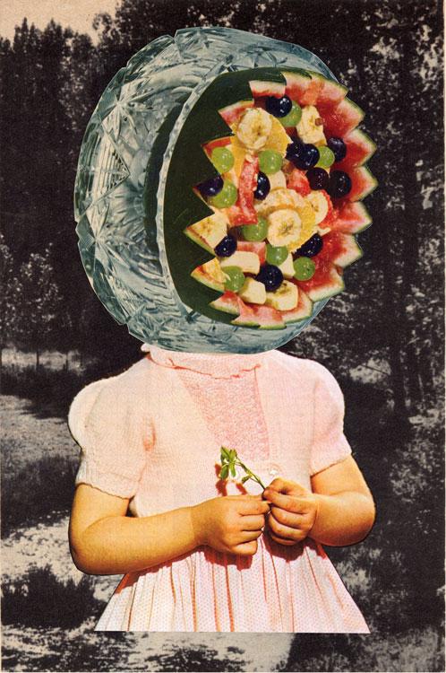 """Melancholy (Analog Collage - 10"""" x 13"""" - 2015)"""