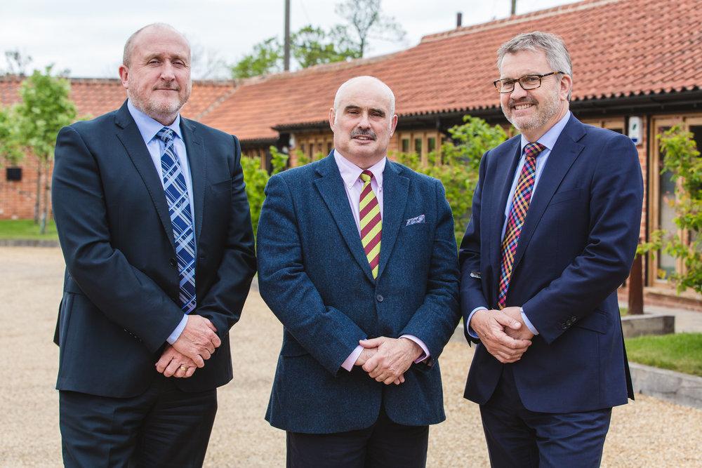 John Wust, Director (left) Philip McKelvey, Head of Sales (centre) Richard Lambert, Director (right)