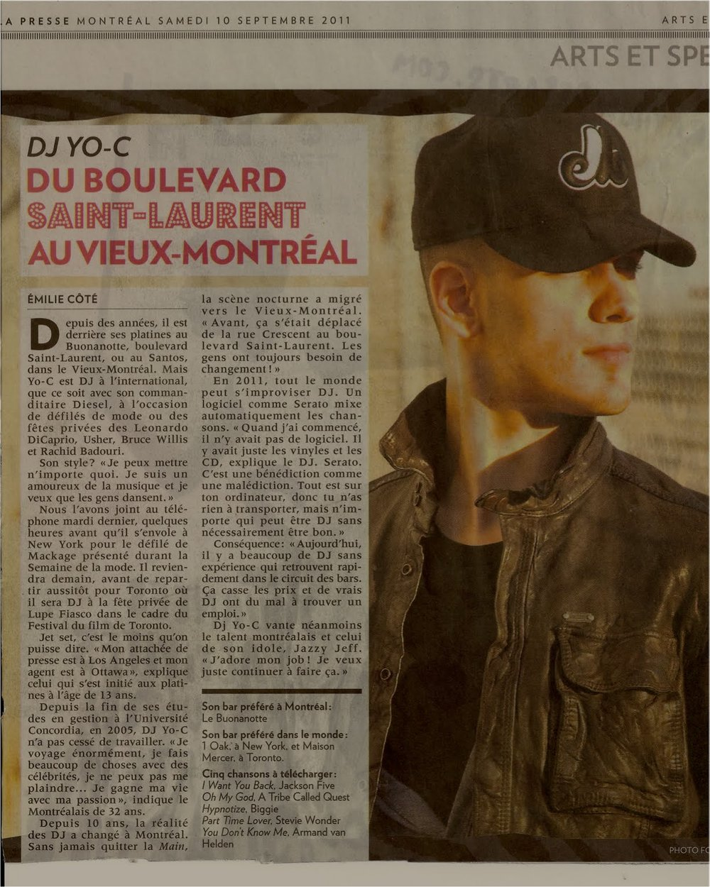 DJ YO-C in LA PRESSE.jpg