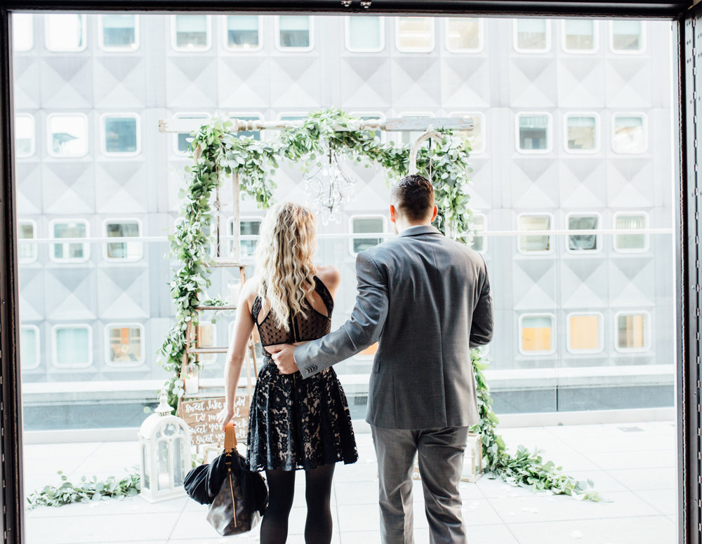 Hotel Monaco Pittsburgh | Wedding Proposal Planners | Exhale Events | Romantic Rooftop Wedding Proposal